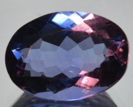 6.60 Cts Naturla Color Change Fluorite Oval Cut Brazil Gem