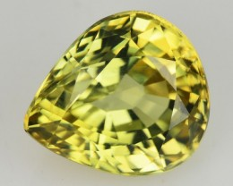 2.56 Cts NATURAL ZIRCON - LIME YELLOW - PEAR (mix) - TANZANIA