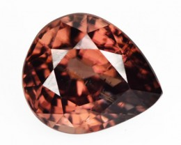 2.88 Cts NATURAL ZIRCON - IMPERIAL BROWN - PEAR (mix) - TANZANIA
