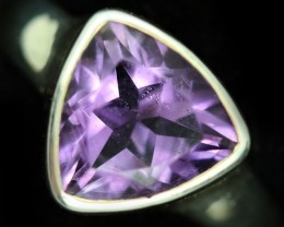 8 SIZE AMETHYST RING -FACTORY DIRECT  [SJ4710]