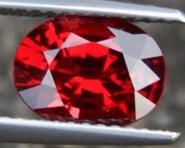 2.29cts  Rhodolite Garnet of Tanzania, Open Color,  Untreated, Calibrated