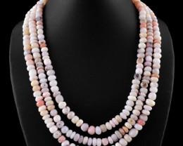 3 Line Pink Australian Opal Necklace