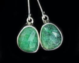 13.65 CTS EMERALD EARRINGS -FACTORY DIRECT [SJ4713]