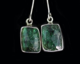 14.40 CTS EMERALD EARRINGS -FACTORY DIRECT [SJ4714]