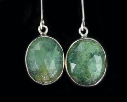 17.10 CTS EMERALD EARRINGS -FACTORY DIRECT [SJ4716]