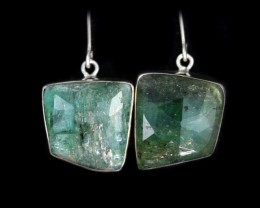 26.80 CTS EMERALD EARRINGS -FACTORY DIRECT [SJ4717]