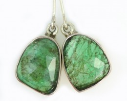 16.30 CTS EMERALD EARRINGS -FACTORY DIRECT [SJ4719]
