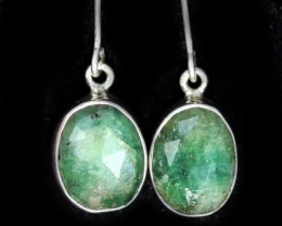 13.45 CTS EMERALD EARRINGS -FACTORY DIRECT [SJ4720]