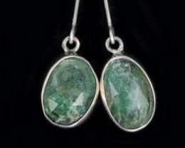 12.55 CTS EMERALD EARRINGS -FACTORY DIRECT [SJ4724]