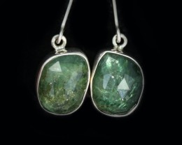 15.25 CTS NATURAL EMERALD EARRINGS -FACTORY DIRECT [SJ4725]
