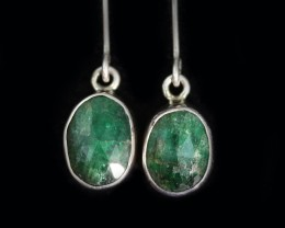 9.60 CTS NATURAL EMERALD EARRINGS -FACTORY DIRECT [SJ4726]
