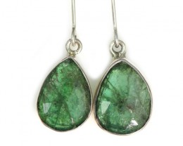 14.65 CTS NATURAL EMERALD EARRINGS -FACTORY DIRECT [SJ4727]
