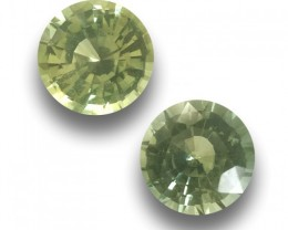 0.78-0.89 Carats Natural Unheated Green Sapphire pair |Loose Gemstone| Sril