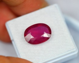 7.63Ct Natural Natural Pink Red Mozambique Ruby Oval Cut
