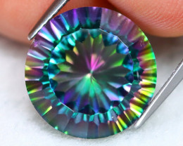 12.25Ct Natural Mystic Topaz Round Cut S205