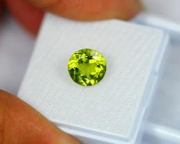 2.92Ct Natural Green Peridot Oval Cut