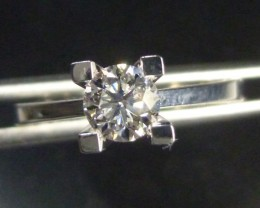 D SI1 GIA  Certified 0.50CT SOLITAIRE DIAMOND RING, 18KT WHITE GOLD