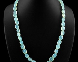 Genuine 241 cts Faceted Chalcedony Necklace