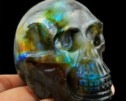 Genuine 1132.50 Cts Blue Flash Labradorite Skull