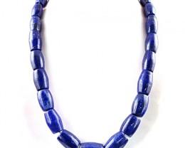 Genuine 1069.00 Cts Blue Lapis Lazuli Beads Necklace