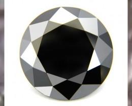 Certified Rare Massive 11.36ct Black Diamond ~ Perfect