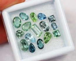 Lot 10 ~ 4.80Ct Natural Paraiba Color / Green / Blue Tourmaline