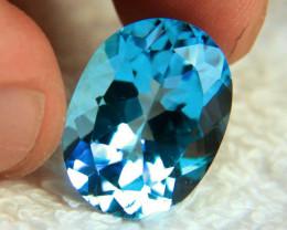 23.2 Carat Vibrant Blue Brazil VVS1 Topaz - Gorgeous