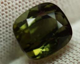 Unheated Green Tourmaline 5.97 ct.- Beautiful IGE Certificate