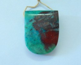 Natural Chrysocolla With Red Chrysocolla Large Hole Necklace Pendant Bead(1