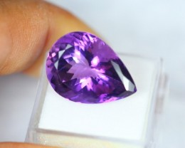 14.78Ct Natural Amethyst Violet Purple Pear Cut