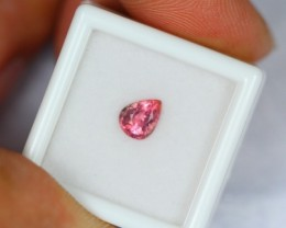 1.00Ct Natural Pink Color Tourmaline Pear Cut