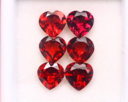 5.54Ct Natural Rhodolite Garnet Heart Cut S213