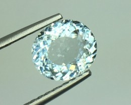 2.60 Ct Natural Aquamarine Awesome Luster  and Cut Gemstone KJ14