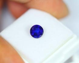 1.20Ct Natural Royal Blue Sapphire Round Cut
