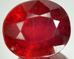 5.74 Cts Blood Red Ruby Oval Cut Thailand Gem