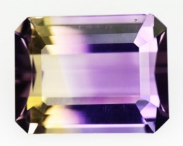 4.08 Cts Natural Cts Bi Color Ametrine Octagon Cut Bolivian Gem