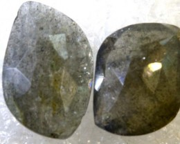 11.5CTS LABRADORITE FACETED PAIR RG-2370