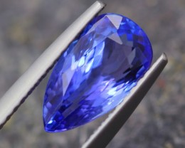 2.08Ct Natural Violet Blue Tanzanite Pear Cut