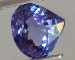 2.08Ct Natural Violet Blue Tanzanite Pear Cut
