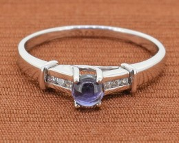 No Reserve IOLITE 925 Sterling Silver Ring SSR0076