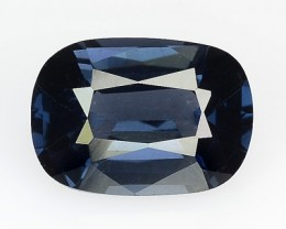 2.15 Cts Natural Spinel Deep Blue Cushion Mogok - Burmese