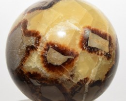 "2.5"" Natural Septarian Dragon Stone Crystal Sphere Madagascar STSDBCA9"