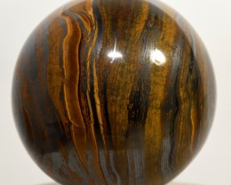 60mm Tiger Iron Crystal Sphere Sparkling Mineral - Africa (STTIB-NA8)