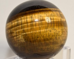 """2.3"""" Golden Yellow Tiger Eye Crystal Sphere Ball - Africa (STYTB-NA97)"""