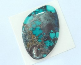 41X27X7MMNatural Turquoise High Quality Unique Freeform Cabochon For Gemsto
