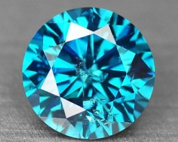 0.42 Cts Natural Blue Diamond Round Africa
