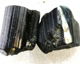 67CTS TOURMALINE BLACK NATURAL ROUGH 2PCS RG-2417