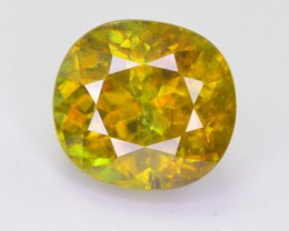 CERTIFIED 3.86 CT NATURAL TOP QUALITY SPHENE GEMSTONE