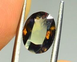 Rare 1.40 ct Multicolor Natural Axinite