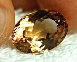 12.63 Carat Brazilian VVS1 Golden Topaz - Gorgeous